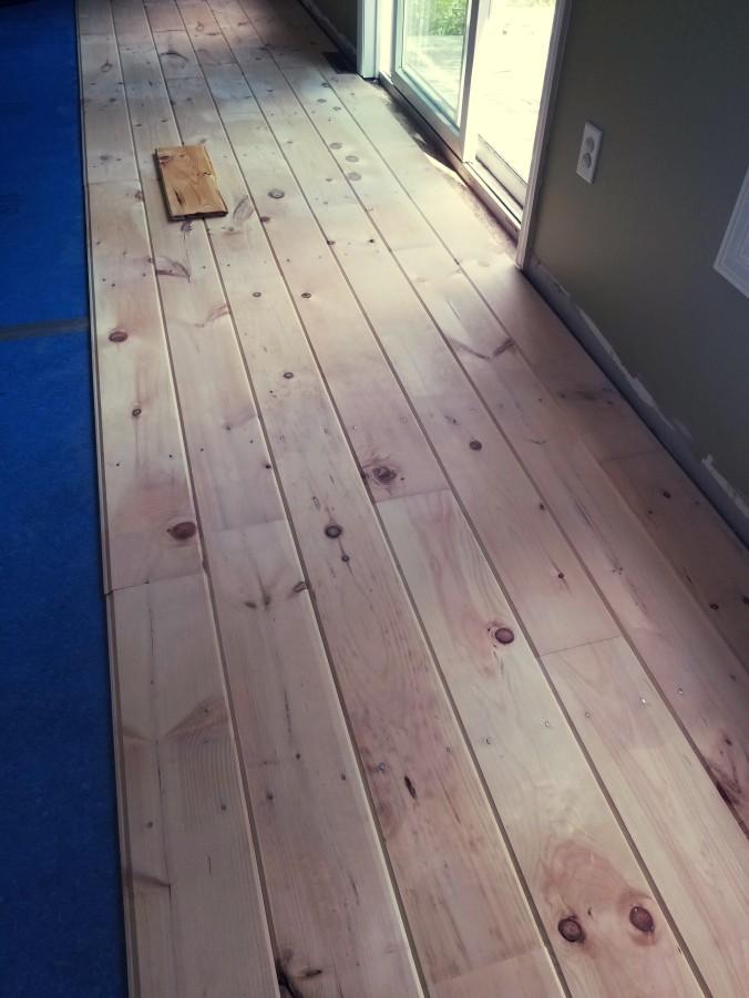 wide plank pine floor