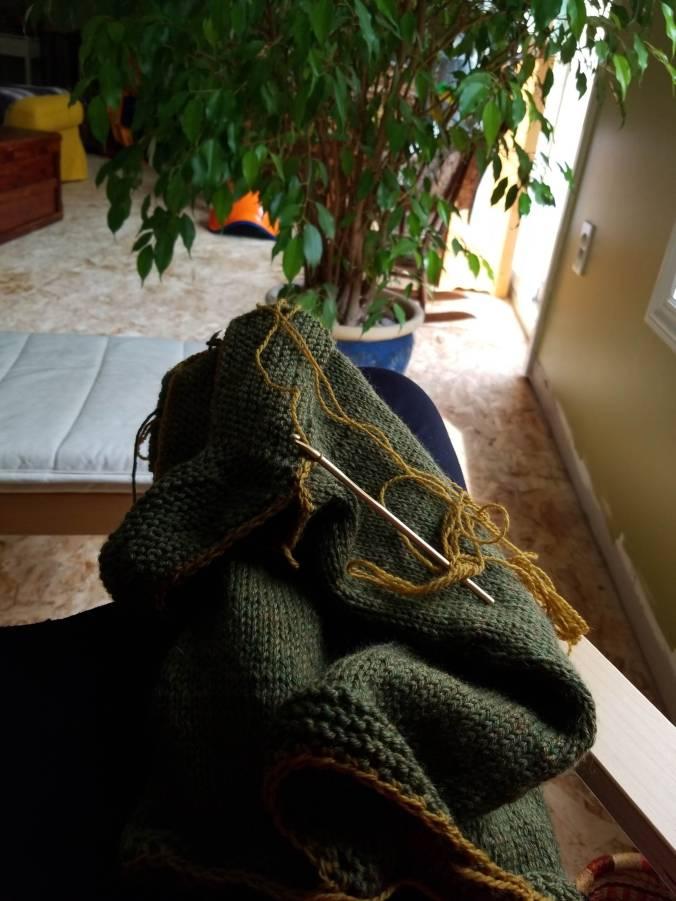 adding trim to knit dress